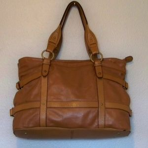 Kenneth Cole Large Leather Satchel Handbag